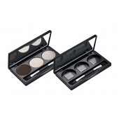 Refill Case for 3 colours with Duo Brush (magnetic)/3er Lidschatten-Palette mit Duopinsel (magnetisch)